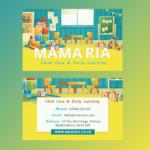 MaMaRia Childcare Business Card Design